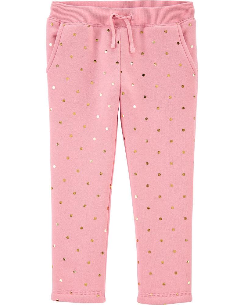 Polka Dot Fleece Pants, , hi-res