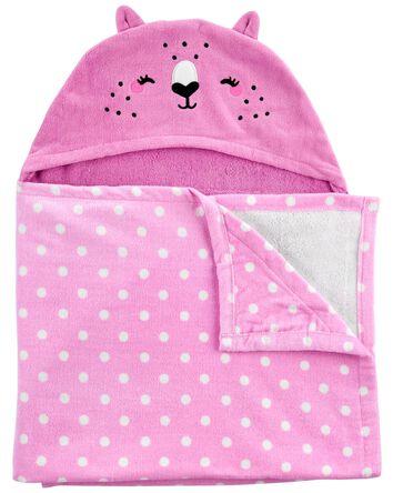 Serviette en tissu-éponge à chat