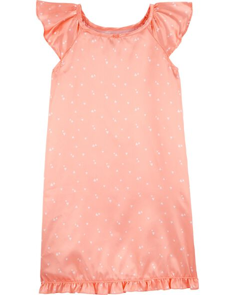 Heart Satin Nightgown