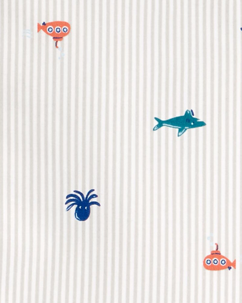 2-Piece Nautical Button-Front & Canvas Short Set, , hi-res
