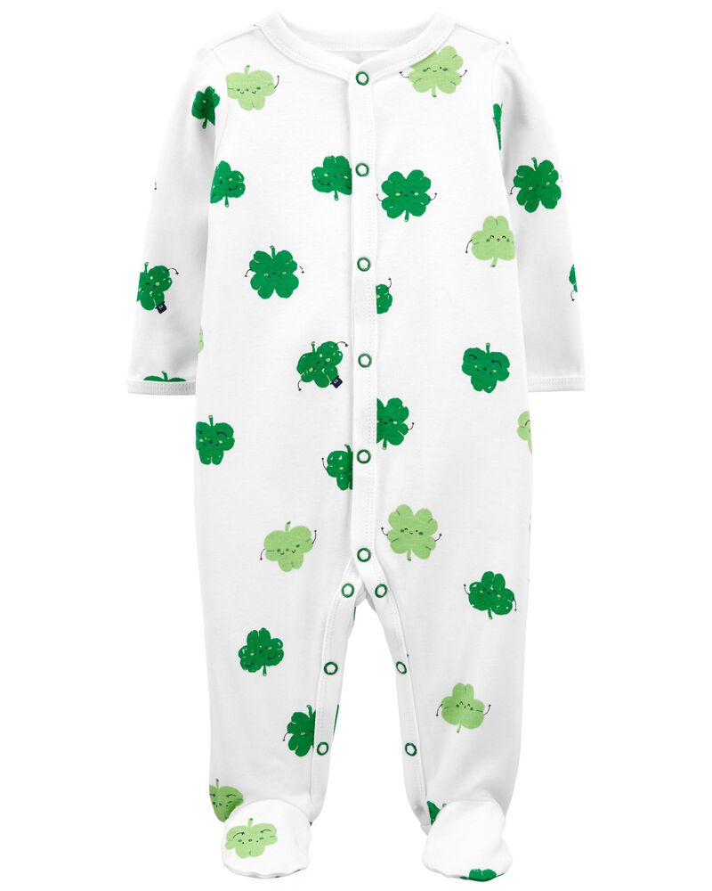 St. Patrick's Day Snap-Up Cotton Sleep & Play, , hi-res