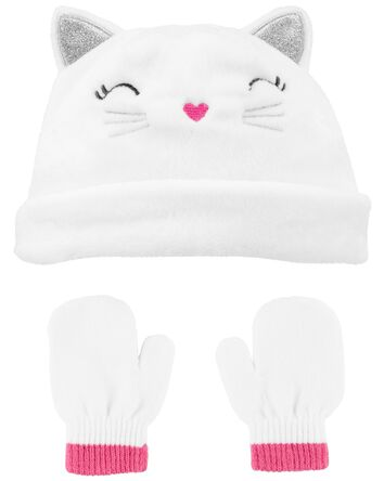 2-Piece Sherpa Hat & Mittens Set