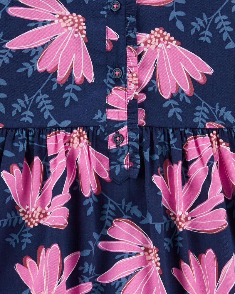 Floral Sateen Dress, , hi-res