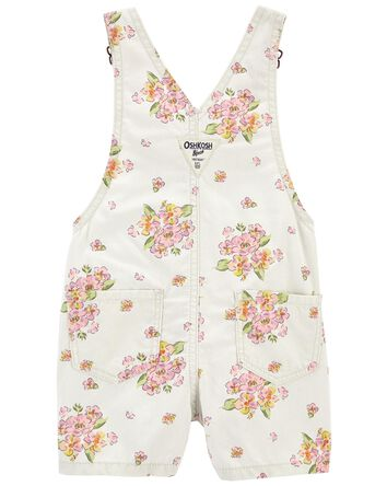 Floral Canvas Shortalls