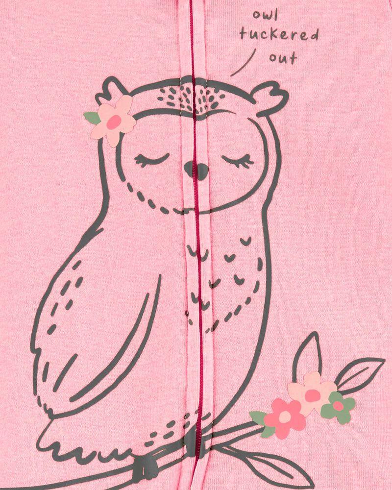 1-Piece Owl 100% Snug Fit Cotton Footless PJs, , hi-res