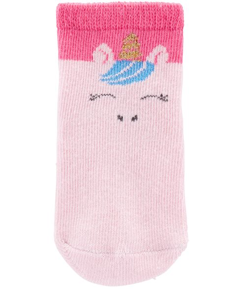 Emballage de 3 paires de chaussettes à licorne