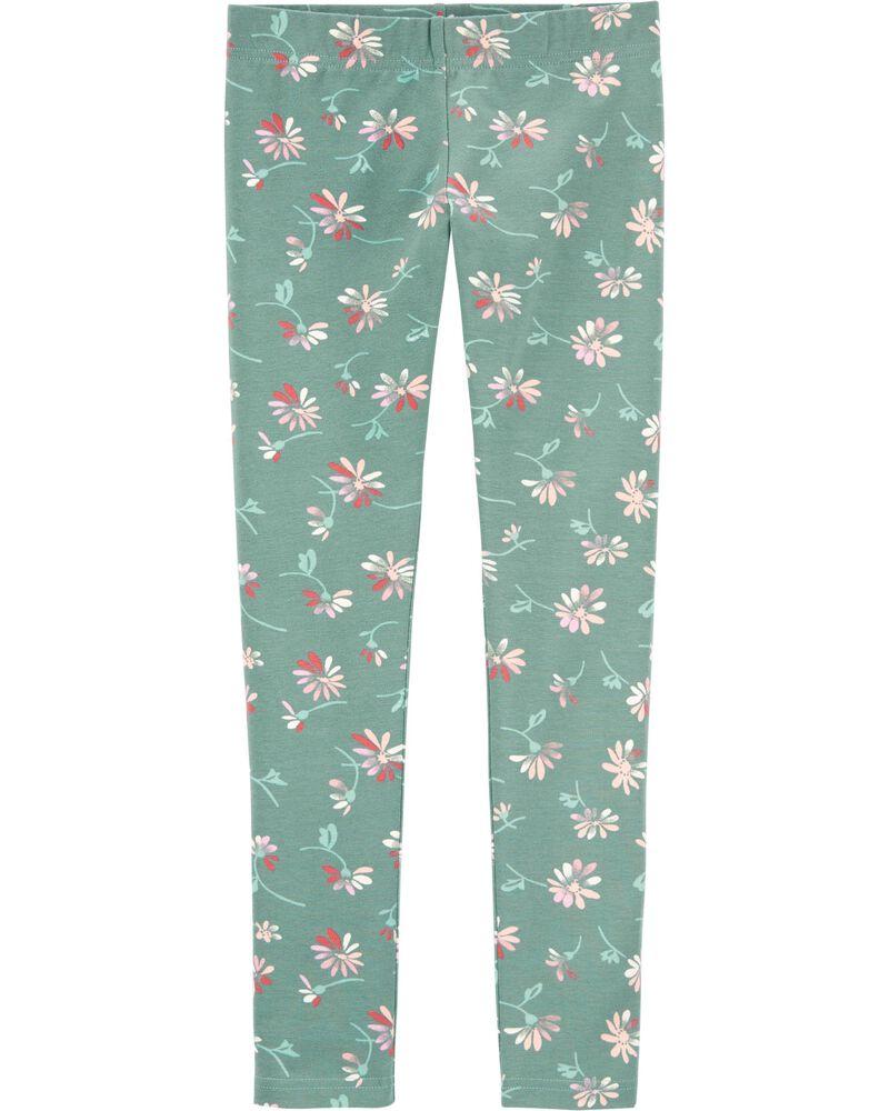Floral Print Leggings, , hi-res