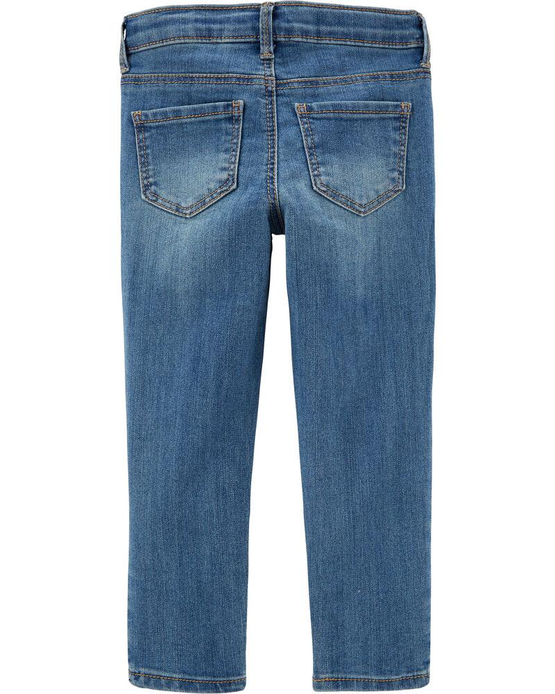 Jeans fuseau extensible - délavage bleu Upstate, , hi-res