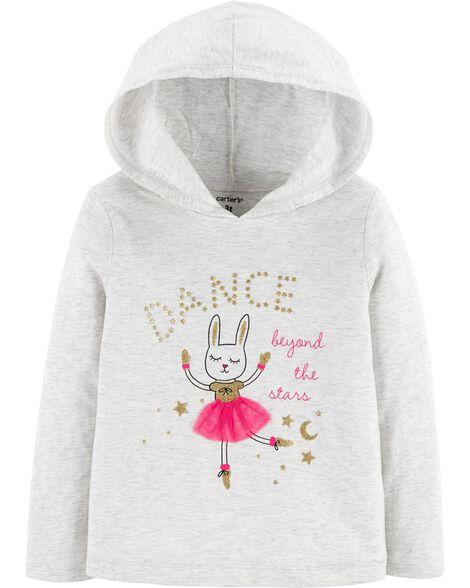 Glitter Bunny Dance Hooded Tee