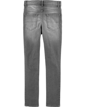Jeans fuseau coupe régulière - déla...