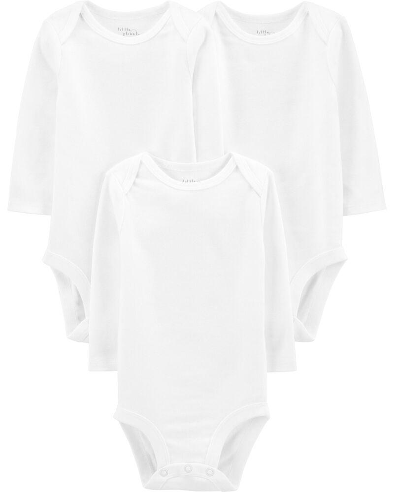 3-Pack Certified Organic Original Bodysuits, , hi-res