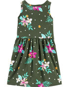Tropical Tank Jersey Dress, , hi-res