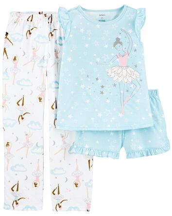 3-Piece Ballerina Loose Fit PJs