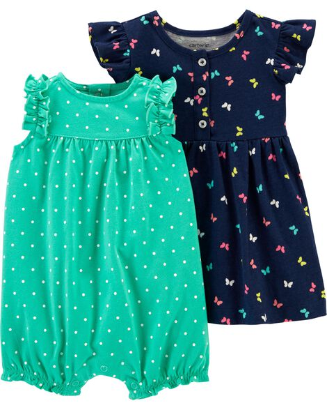 2-Pack Dress & Romper Set