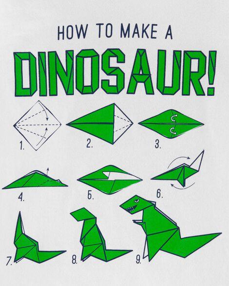 T-shirt en jersey How To Make A Dinosaur Origami