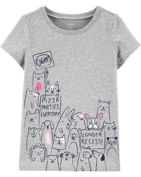 T-shirt en jersey à motif d'animal