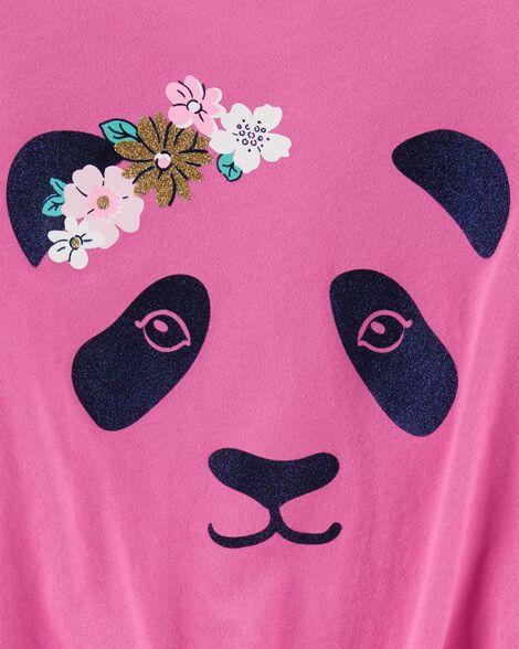 Panda Tie-Front Jersey Tee