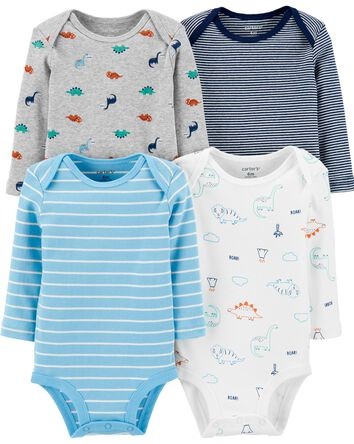 4-Pack Dinosaur Original Bodysuits