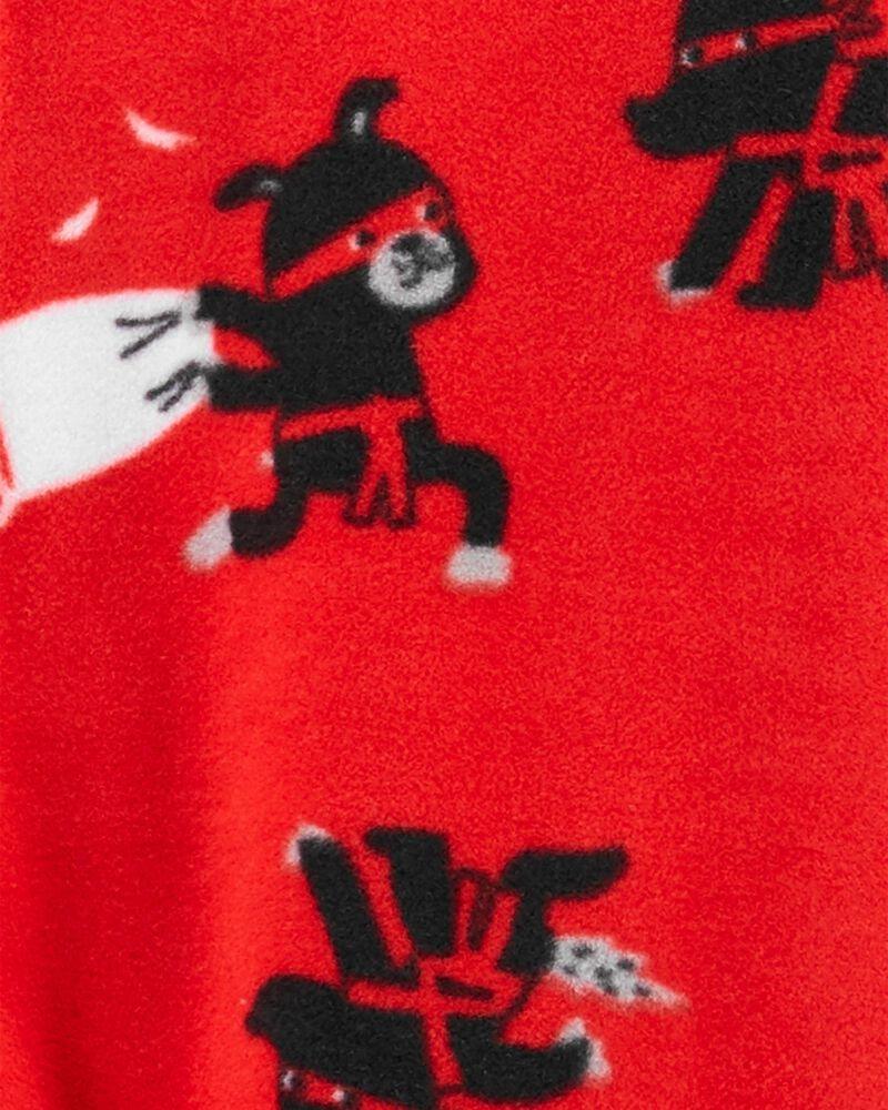 1-Piece Ninja Fleece Footless PJs, , hi-res