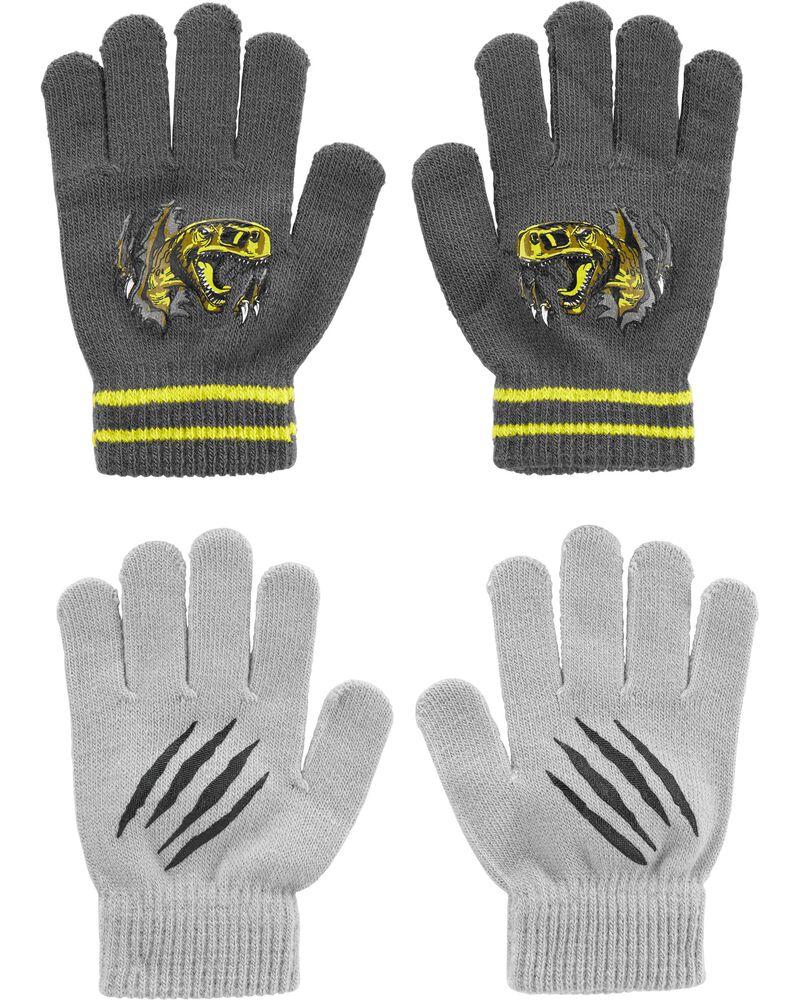 Emballage de 2 paires de gants dino à paume agrippante Kombi, , hi-res