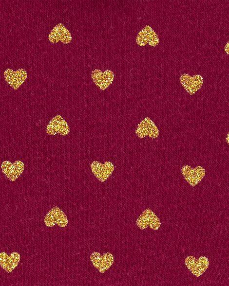 Robe des fêtes en molleton avec cœur scintillant