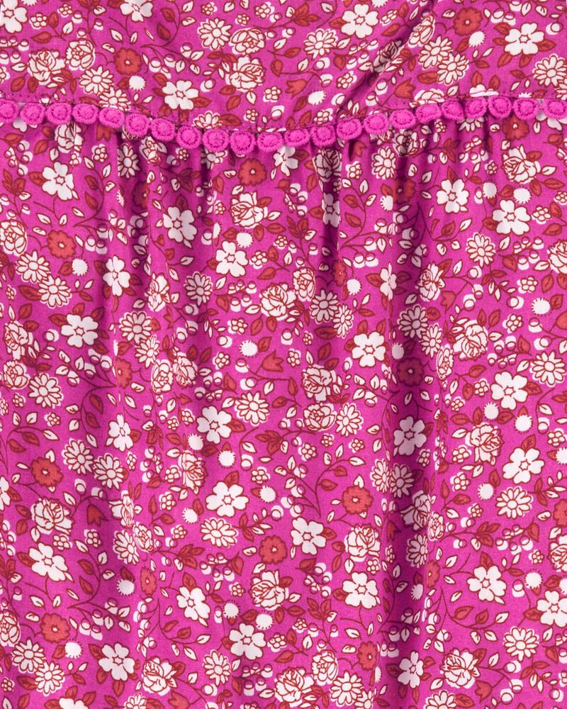Floral Poplin Romper, , hi-res