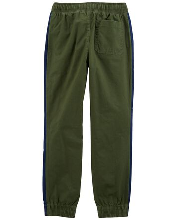 Pantalon à enfiler en sergé