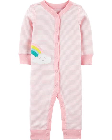 Rainbow Snap-Up Cotton Footless Sleep & Play