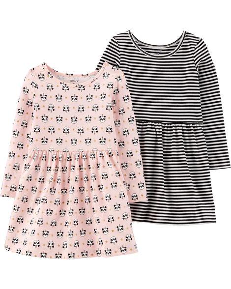 Emballage de 2 robes en jersey