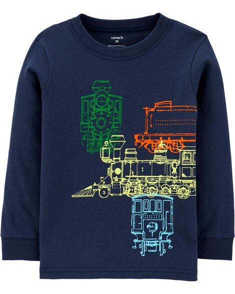 T-shirt en jersey à trains