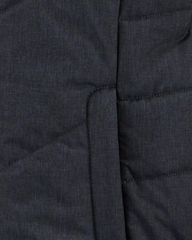 Long manteau matelassé à capuchon, , hi-res