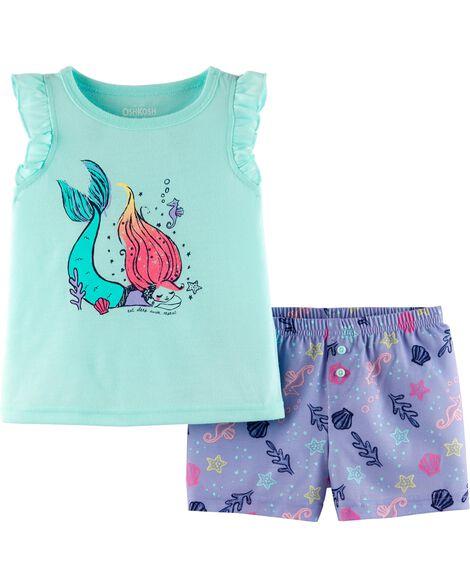 Pyjama 2 pièces sirène
