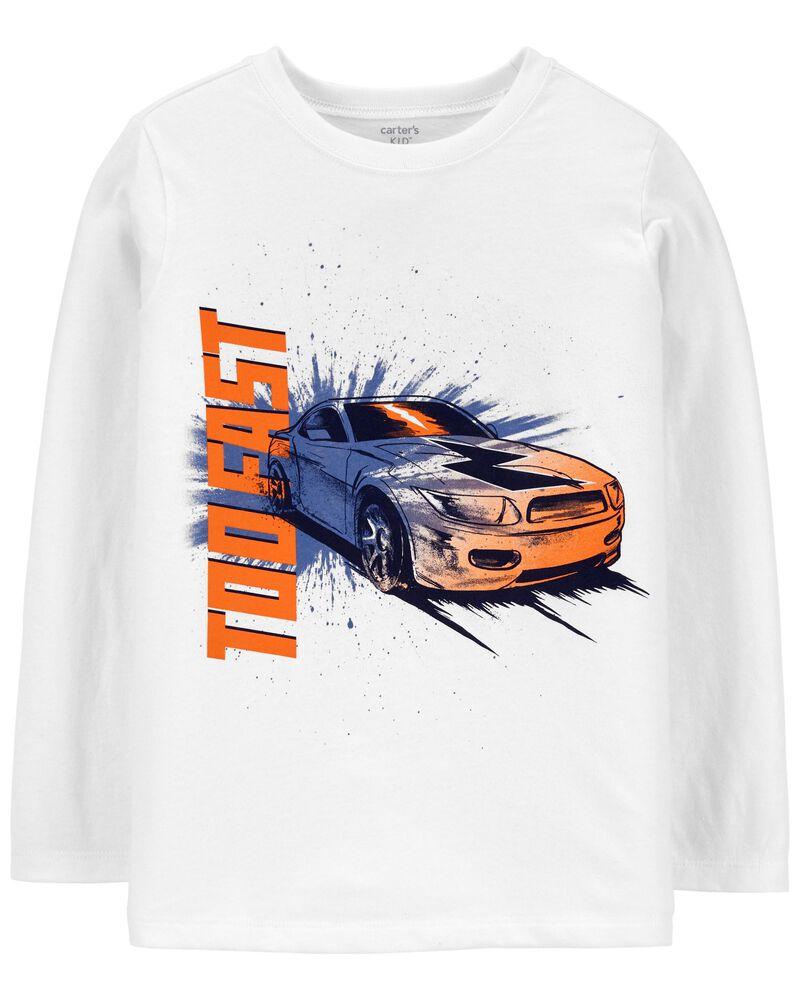 T-shirt en jersey avec slogan, , hi-res