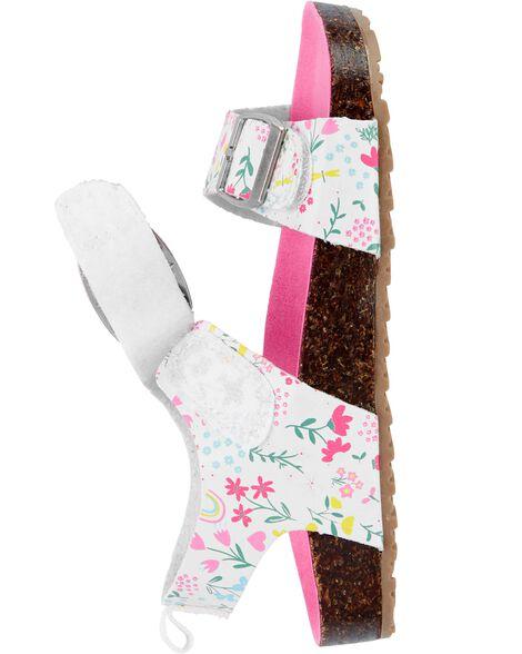 Floral Cork Sandals