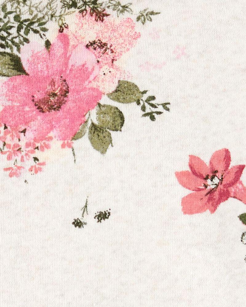 Kangourou en molleton fleuri avec logo, , hi-res