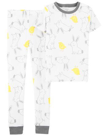 Pyjamas 2 pièces en coton ajusté Pâ...