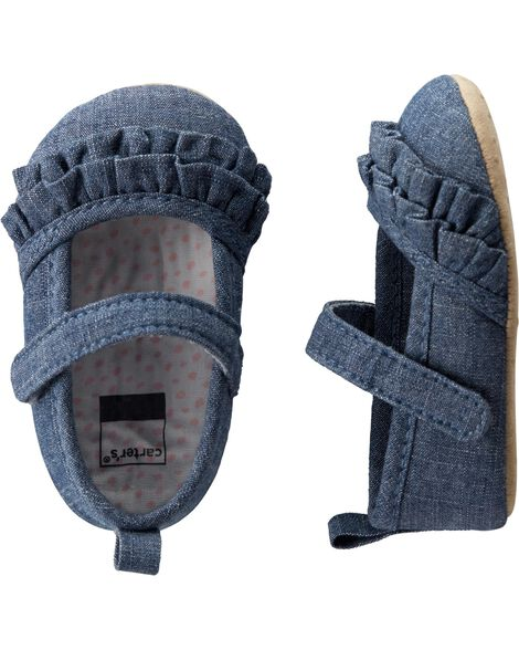 Chaussures de style Charles IX en chambray