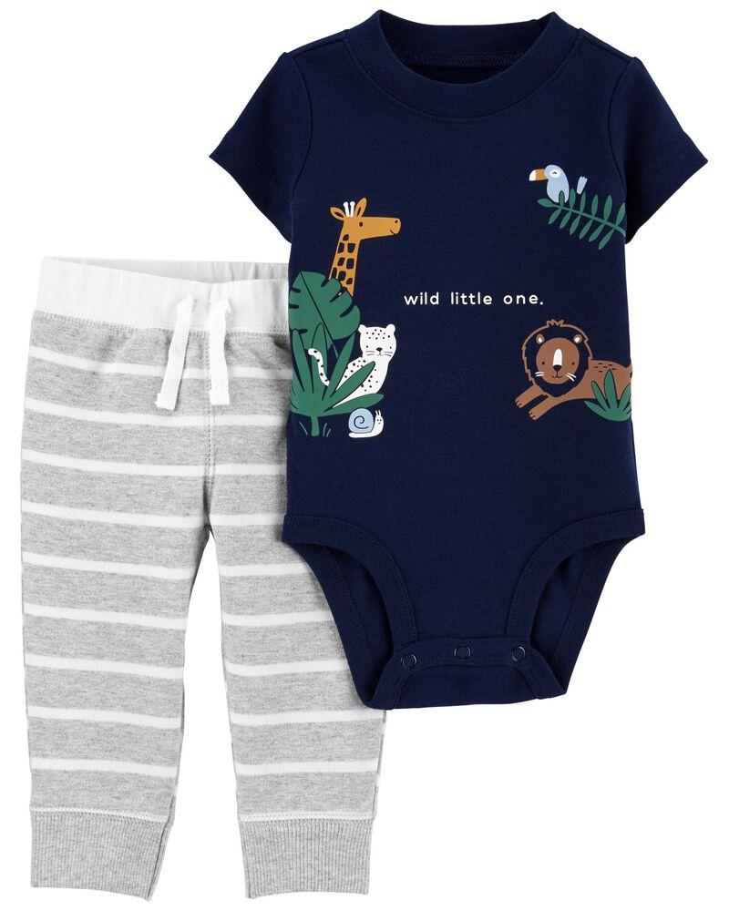 2-Piece Animal Bodysuit Pant Set, , hi-res