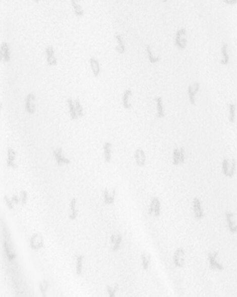 Gigoteuse en molleton à alphabet