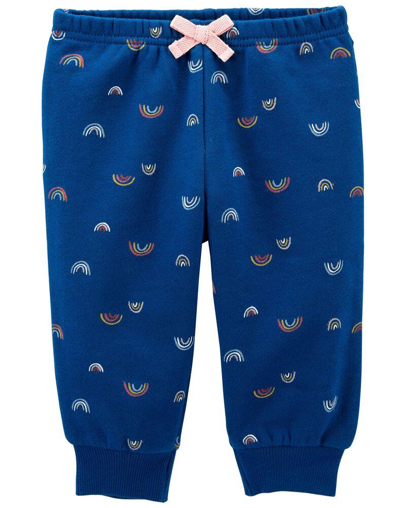 Pantalon à enfiler en molleton arc-en-ciel, , hi-res