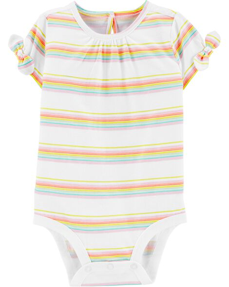 Rainbow Stripe Jersey Bodysuit