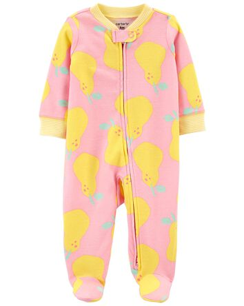 Pear 2-Way Zip Cotton Sleep & Play