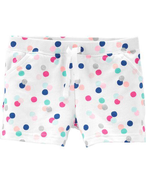 Polka Dot French Terry Shorts