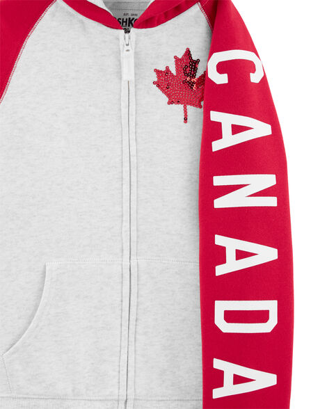 Canada Day Maple Leaf Hoodie