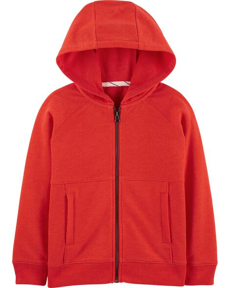 Zip-Up French Terry Hoodie