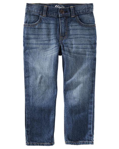 Jeans droit - délavage authentique