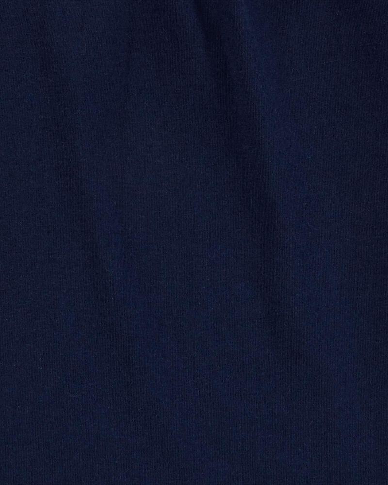 T-shirt en coton marine, , hi-res