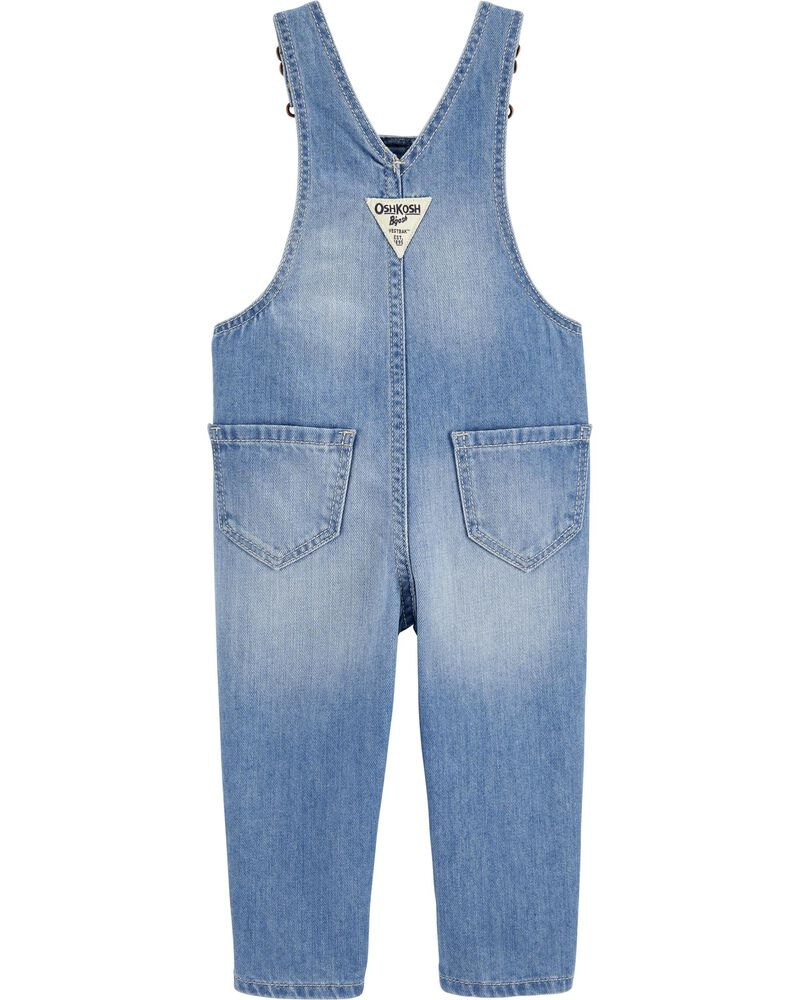 Patchwork Denim Overalls, , hi-res