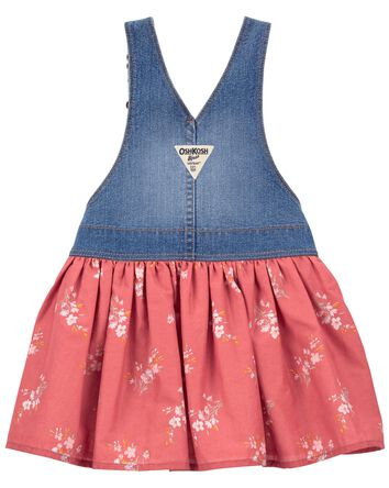 Floral Knit Denim Jumper