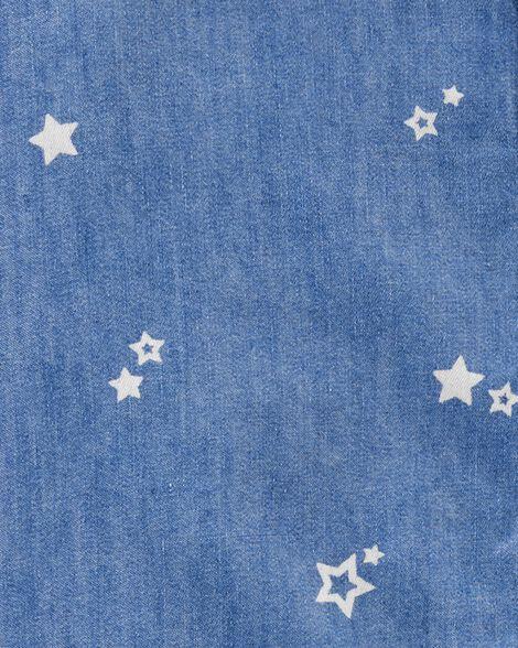 Tunique en denim à étoile